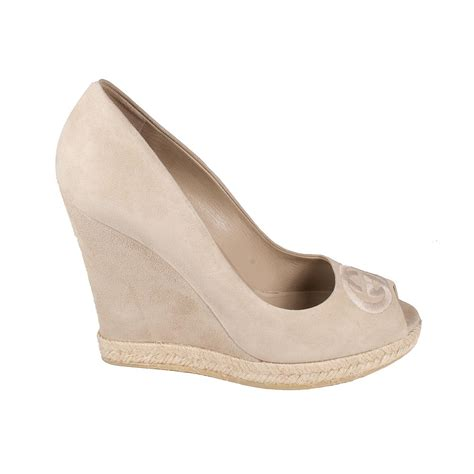 shoe wedges for gucci shoes for beige suede wedges ggw2707