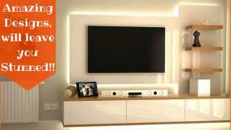 amazing ways to design your tv unit plan n design youtube