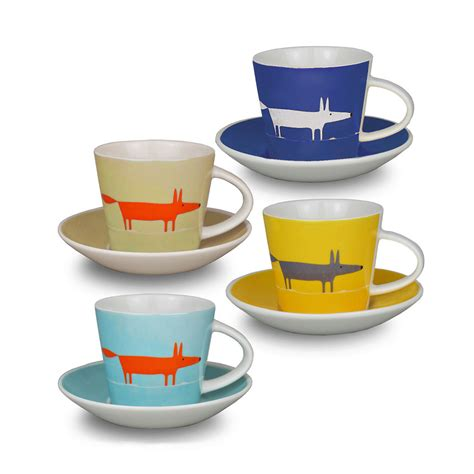 buy cup buy scion mr fox espresso cup and saucers set of 4 amara