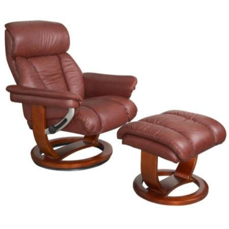 leather swivel recliner armchair chair and footstool mars leather swivel recliner footstool in chestnut