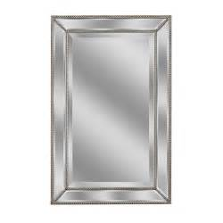 deco mirror 32 in l x 20 in w metro beaded mirror in