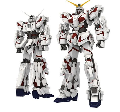 Gundam Papercraft Template - papercraftsquare new paper craft rx 0 unicorn gundam