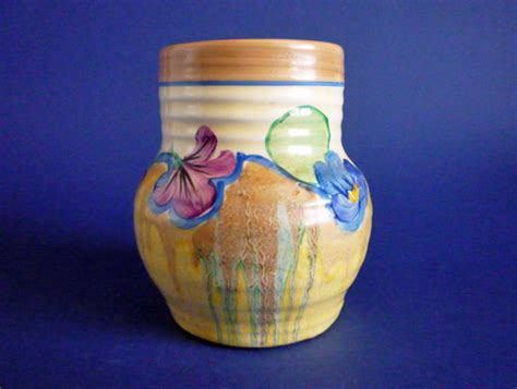 Clarice Cliff Vase Shapes by Stunning Clarice Cliff Delecia Pansies 565 Shape
