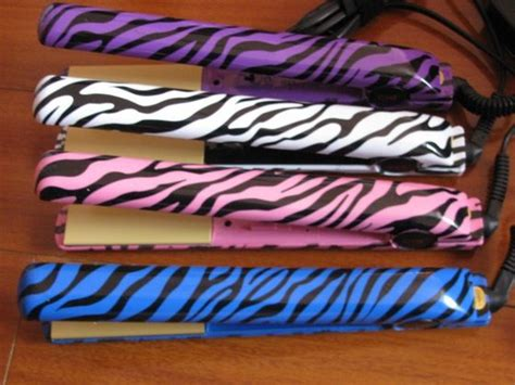 blue zebra chi flat iron wholesale zebra flat irons pink purple white blue hair