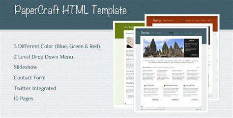 themeforest company profile papercraft company profile template html others