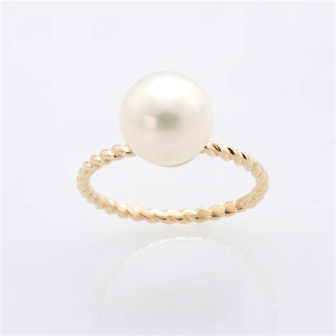 water pearl fresh water pearl with twisted gold band christine k jewelry