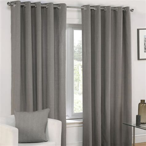 grommet lined curtains plain eyelet grommet fully lined pair window curtains