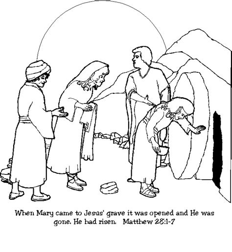 jesus resurrection coloring pages jesus empty tomb clip art google search coloring pics