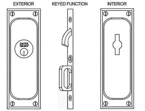 Emtek Products Inc 2103 Keyed Emtek Classic Solid Brass Mortise Pocket Door Keyed Lockset Emtek Hardware Templates