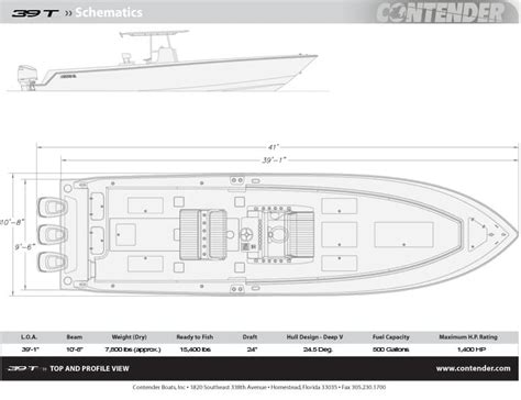 39 st tournament fishing boat contender boats - Contender Boats Specs