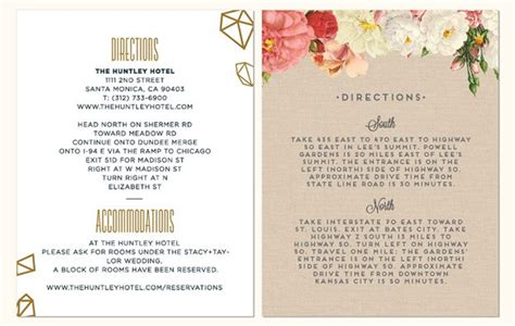 what to include on wedding enclosure cards details to include on your enclosure card