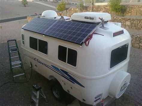 solar powered trailer home rv solar panels the rving lifestyle