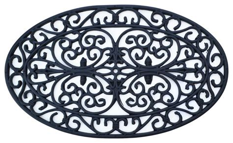 traditional rubber st oval rubber mat traditional doormats by imports