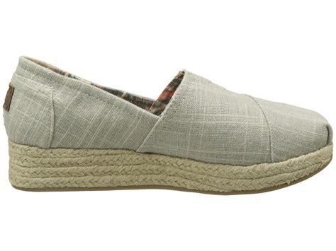 bobs wedge shoes bobs from skechers metallic linen wedge espadrille