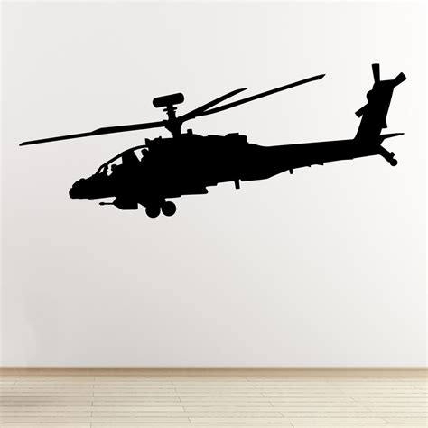 helicopter wall stickers apache helicopter wall sticker attack aircraft
