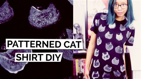 youtube shirt pattern diy tutorial cat pattern graphic t shirt shirt sting