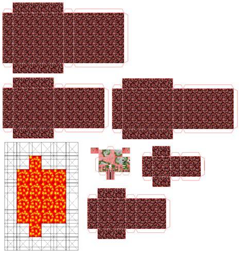 Papercraft World - minecraft papercraft mini world www pixshark