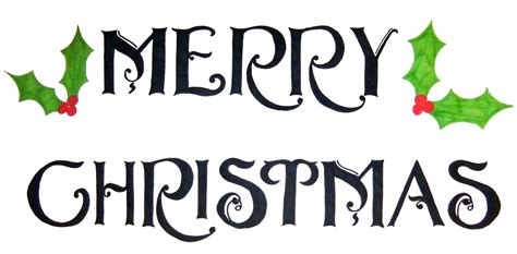 word clipart merry christmas pencil and in color word