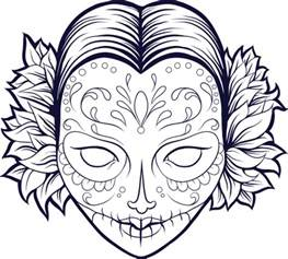 sugar skull coloring page free coloring pages of open skull