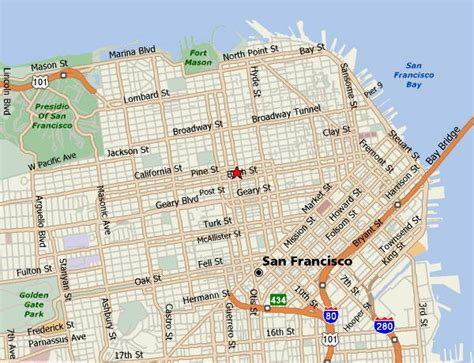 san francisco neighborhoods map with streets maps of san francisco