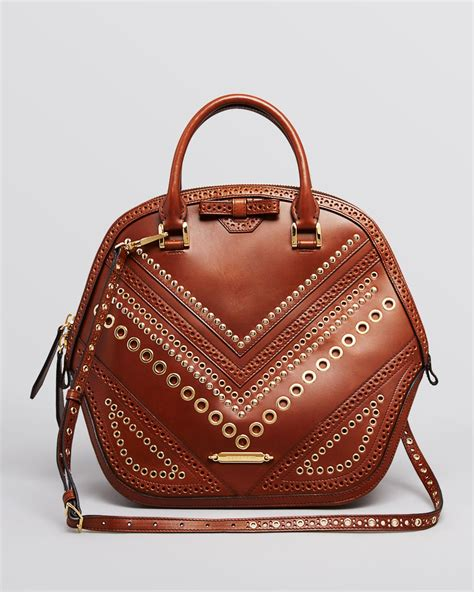 Burberry Dome Satchel by Lyst Burberry Satchel Medium Orchard Dome With Grommets