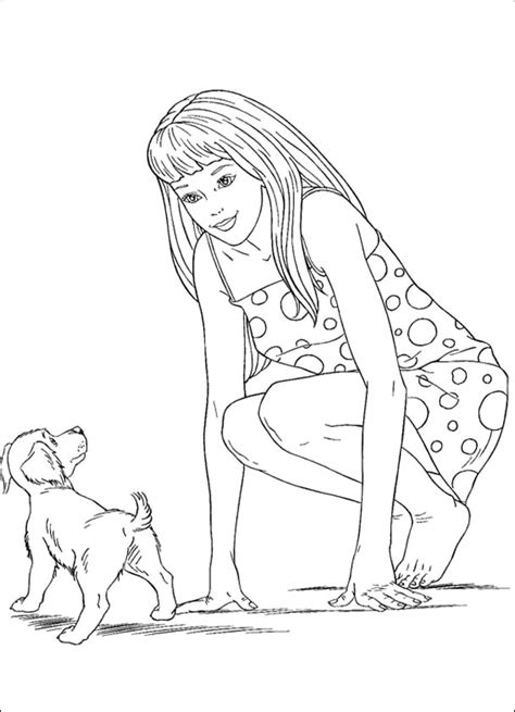 barbie dog coloring page barbie doll coloring pages az coloring pages