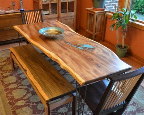 slab dining room table natural edge slab american elm dining room table with