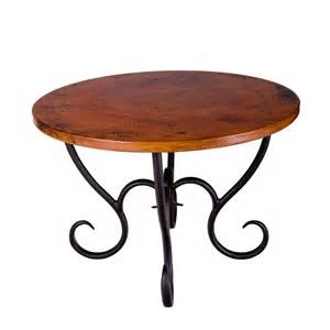wrought iron milan dining table round by mathews amp co