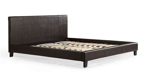 leather bed frame king king pu leather bed frame brown