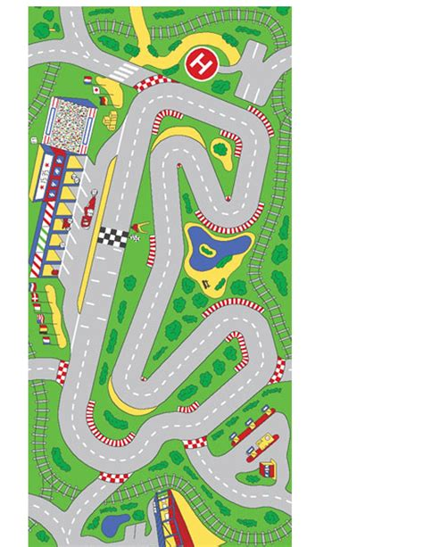printable roads for toy cars 6 best images of printable race car track race track