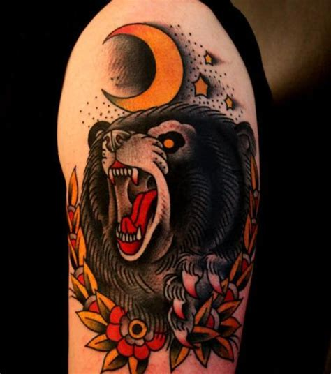 american traditional bear tattoo american traditional tattoos