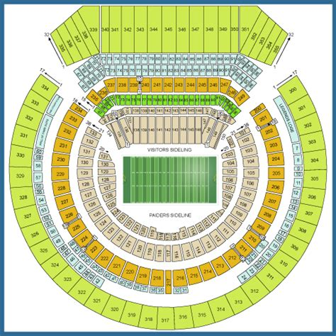 raiders seating chart oakland raiders tickets september 09 2017 at 5 00 pm
