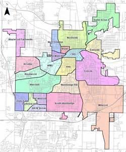 Neighborhoods In Map Neighborhoods Kalamazoo Safety