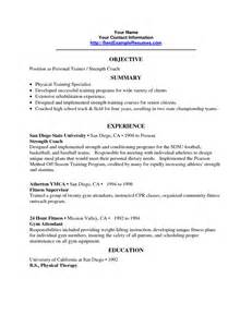 Sle Resume Objective by Best Personal Trainer Resume Sales Trainer Lewesmr