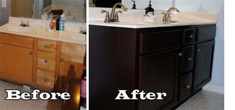 how to paint a bathroom vanity black painted bathroom cabinets cool pinterest