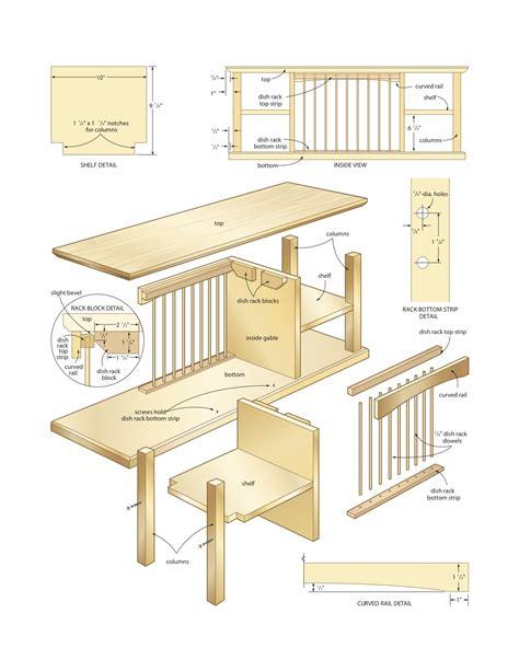 Rack Plan by Dish Organizer Rack Woodworking Plans Woodshop Plans