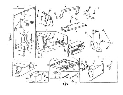 singer sewing machine parts diagram sewing machine diagram parts list for model 14u344b