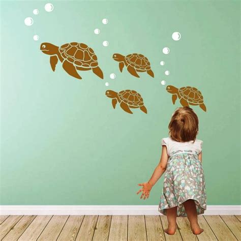 Sea Turtle Bedroom Decor by 15 Decorative And Interesting Bathroom Wall Stickers Rilane