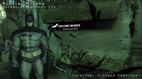 Batman Arkham Asylum Botanical Gardens Batman Arkham Asylum Riddler Challenges Botanical Gardens