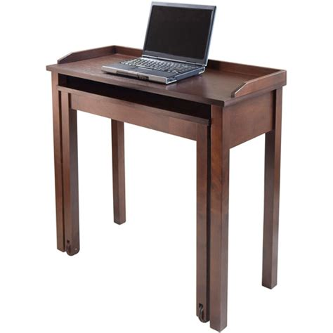 Walmart Laptop Desk Kendall Rollout Laptop Desk Antique Walnut Walmart