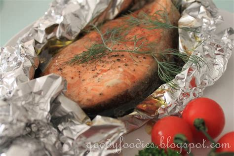 goodyfoodies recipe easy oven baked salmon trout asian western style