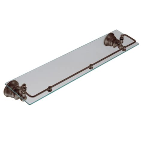 bronze bathroom shelf shop moen waterhill oil rubbed bronze glass bathroom shelf
