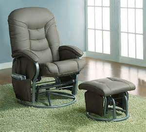 Glider Chair With Ottoman Comfort Swivel Glider Chair With Ottoman In Beige Stargate Cinema