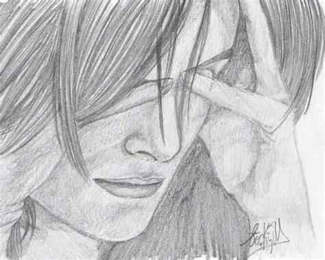 imagenes de amor triste para dibujar dibujos a lapiz tristes imagui