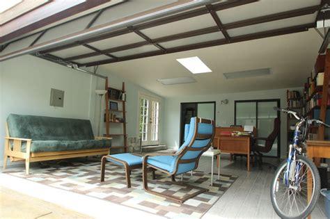 garage conversion contemporary home office los
