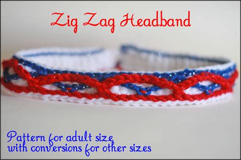 crochet zig zag headband pattern headband crochet pattern zig zag candle in the night
