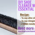 diy shoe cleaner diy essential disinfectant spray the miracle of