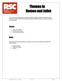 themes romeo and juliet tes romeo juliet rsc themes reference by