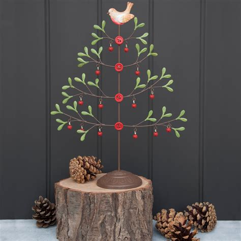 dotcomgiftshop jingle bells tabletop metal christmas tree