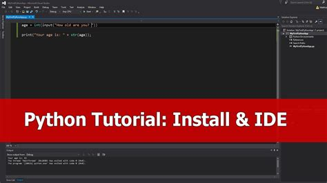 tutorial on python programming python tutorial for beginners install for visual studio